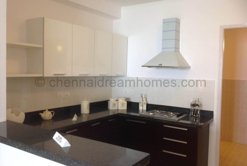 3 BHK - model-flat-kitchen