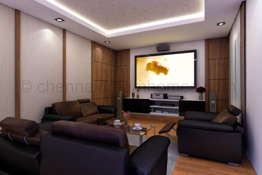 Penthouse- home-theatre room