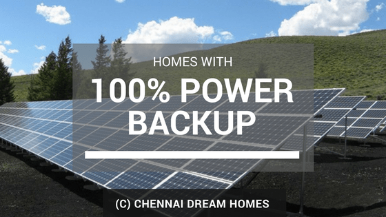 Properties with Full 100% Power backup