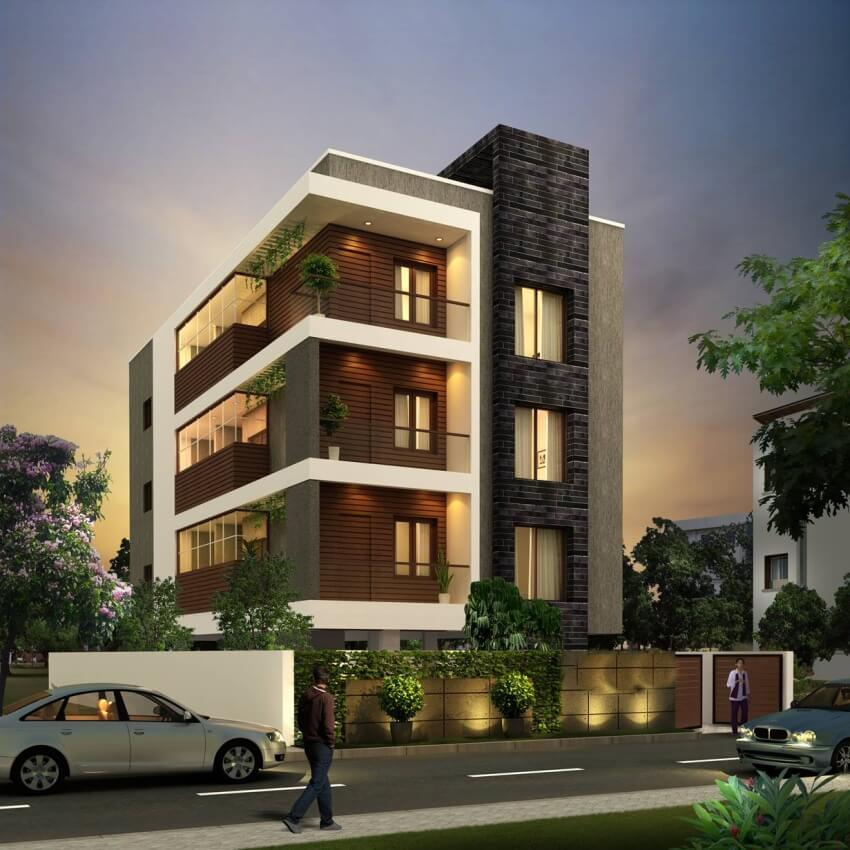 Three Apartments With Extra Special Lighting Schemes: 3 BHK Apartments In A Posh Area Of