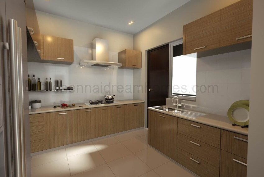 3 BHK Apartment - Kitchen