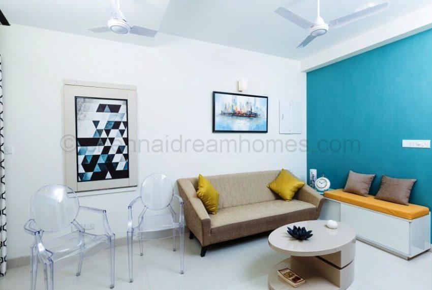 2 BHK Model House - Living