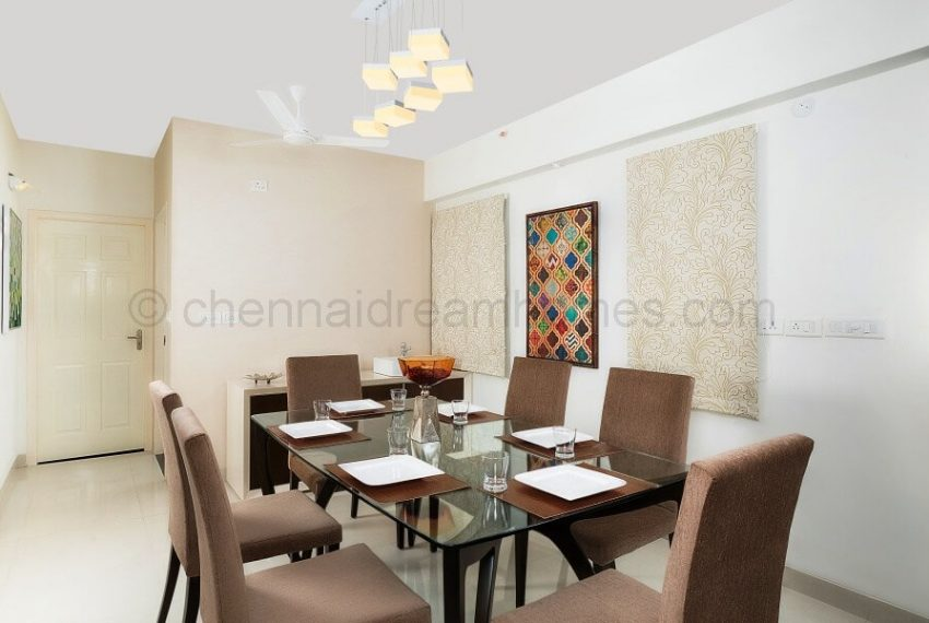 3 BHK Model House - Dining