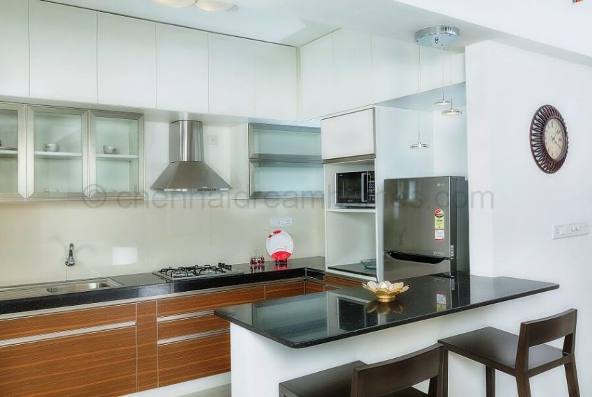3 BHK Model House - Kitchen