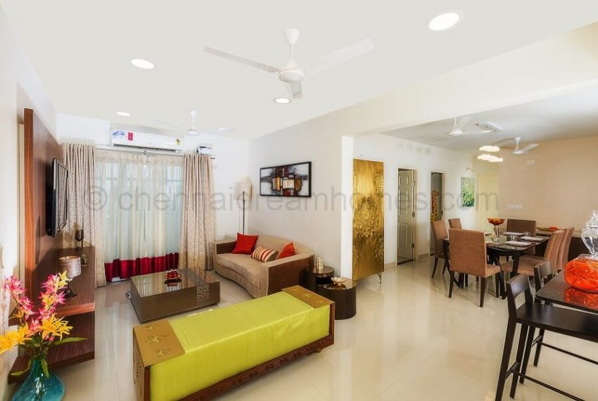 3 BHK Model House - Living cum Dining