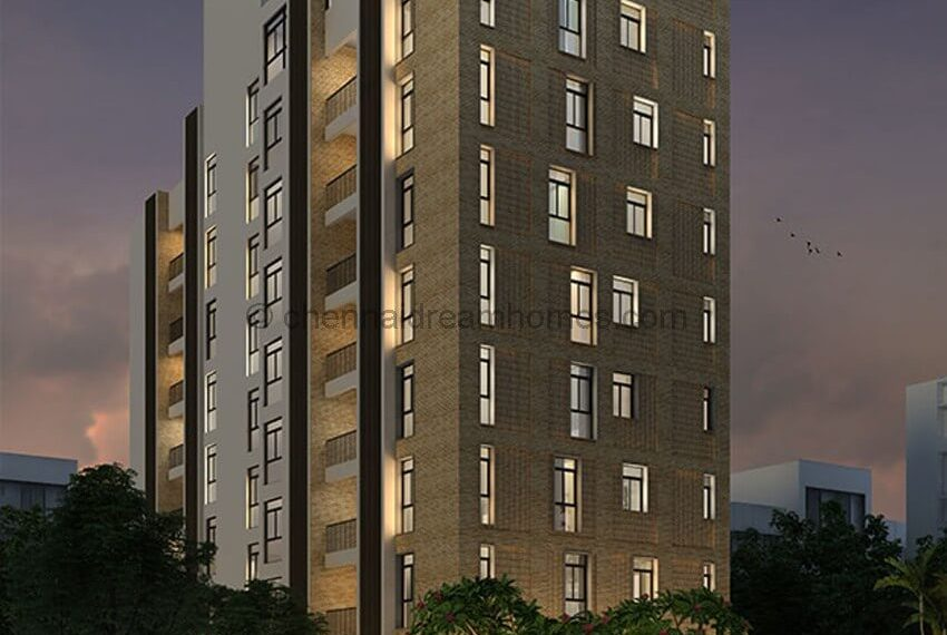 Night Elevation - TNagar Apartments for sale
