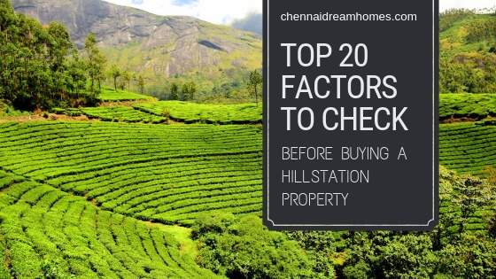 Hillstation Property Buying Checklist