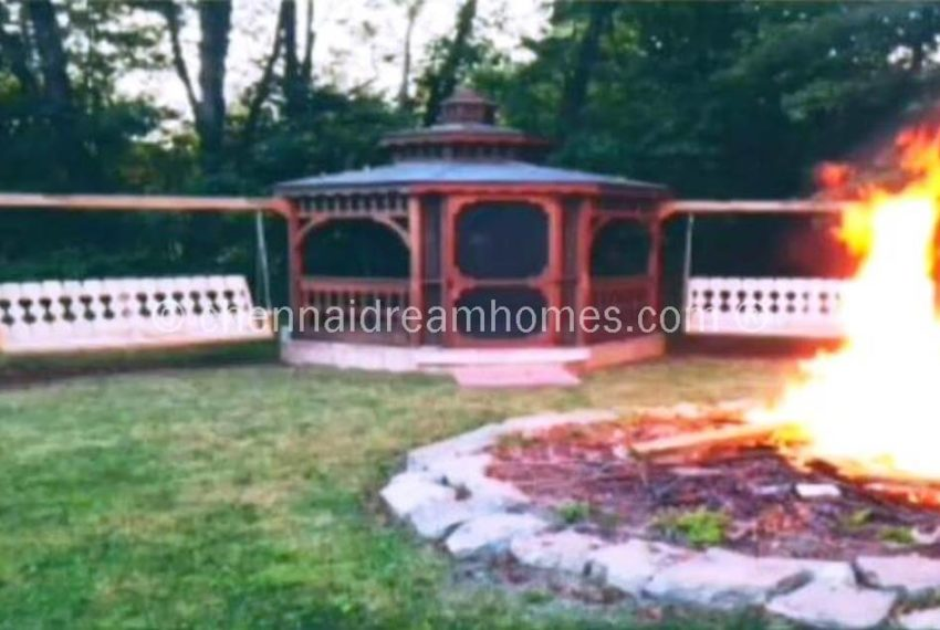 gazebo campfire